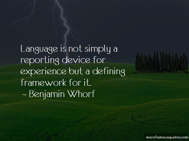 Benjamin Whorf Quotes Pictures 3