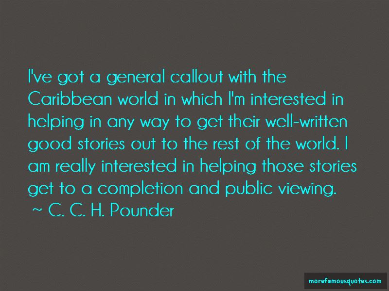 C. C. H. Pounder Quotes Pictures 2