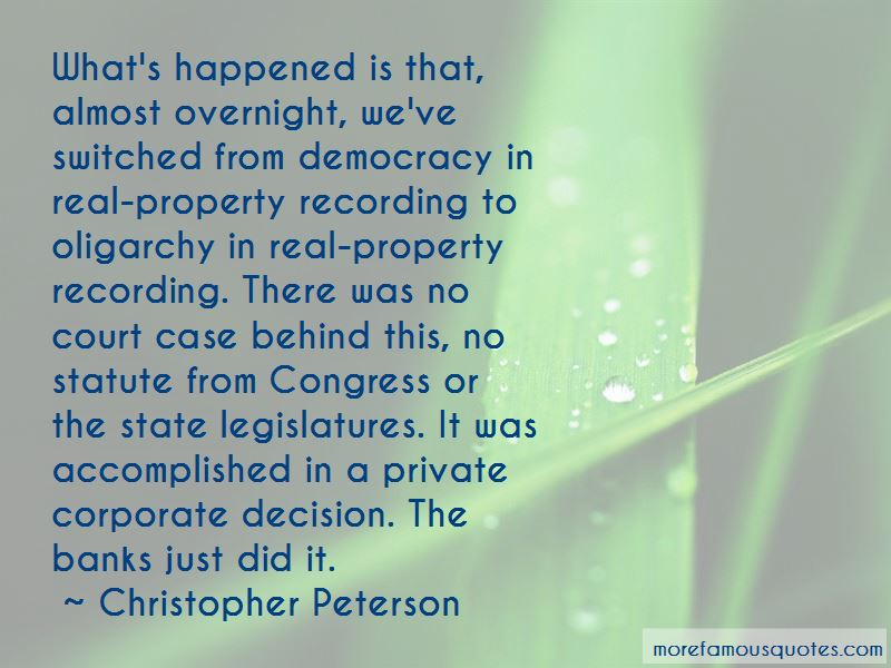 Christopher Peterson Quotes