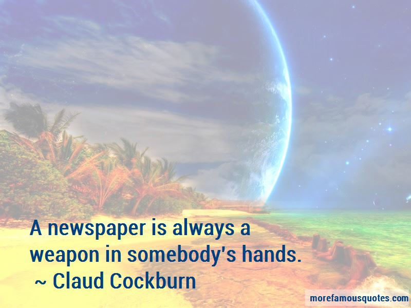 Claud Cockburn Quotes Pictures 2