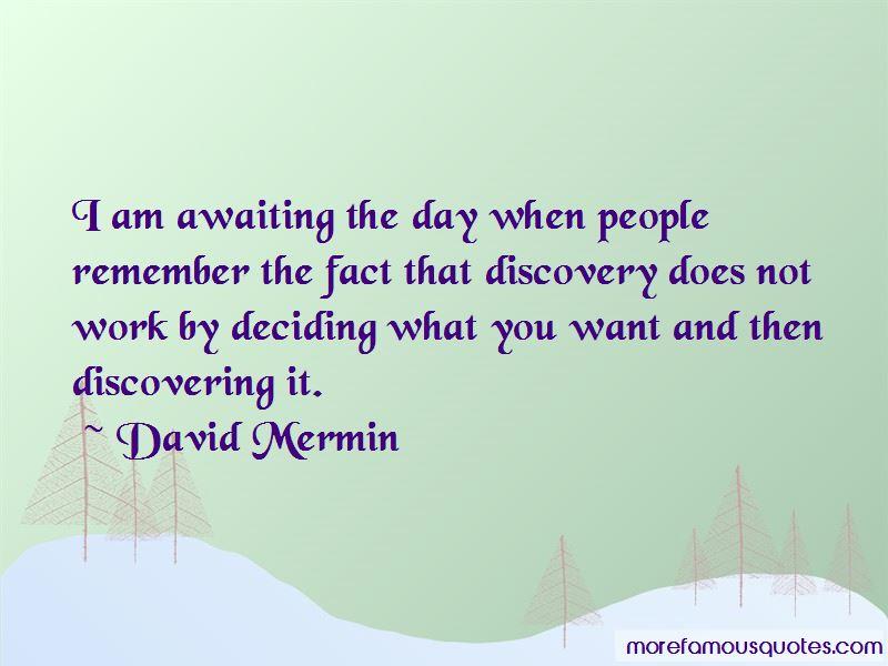 David Mermin Quotes
