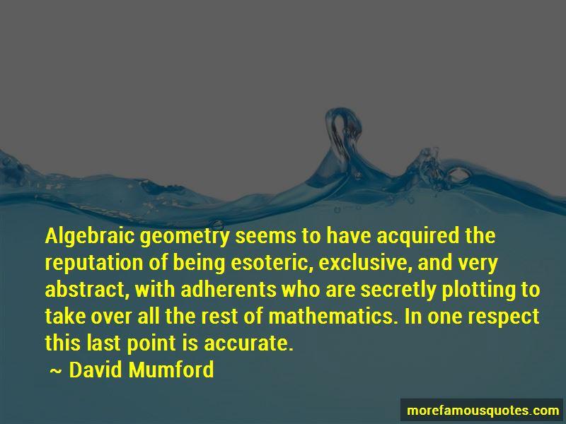 David Mumford Quotes Pictures 4