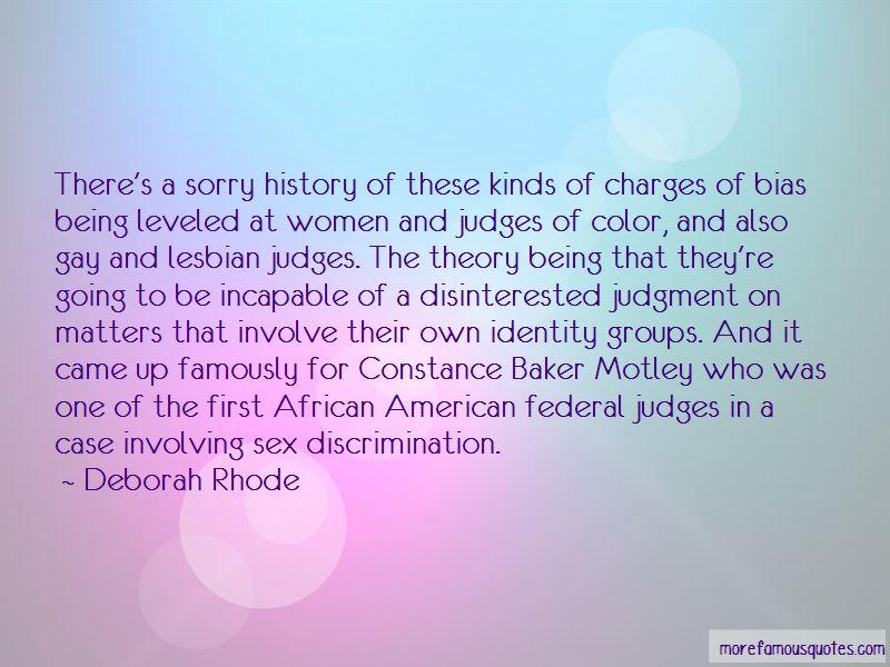 Deborah Rhode Quotes