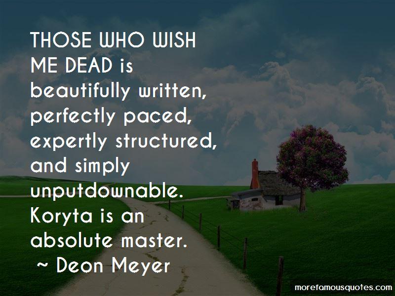 Deon Meyer Quotes