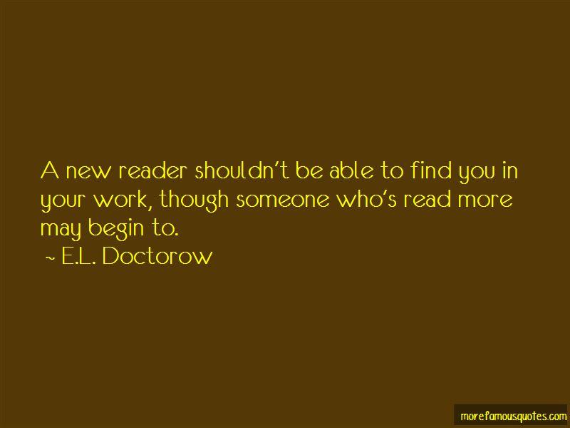 E.L. Doctorow Quotes