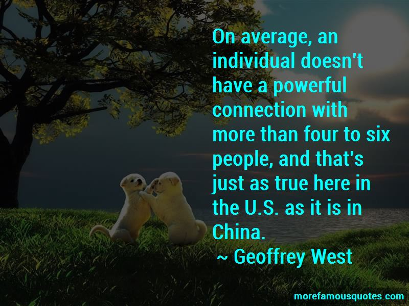 Geoffrey West Quotes Pictures 2