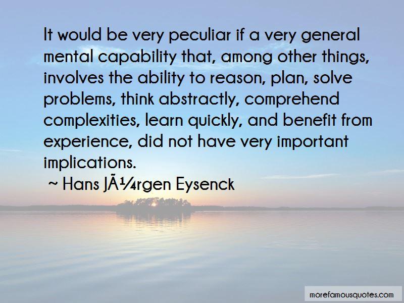Hans Jurgen Eysenck Quotes