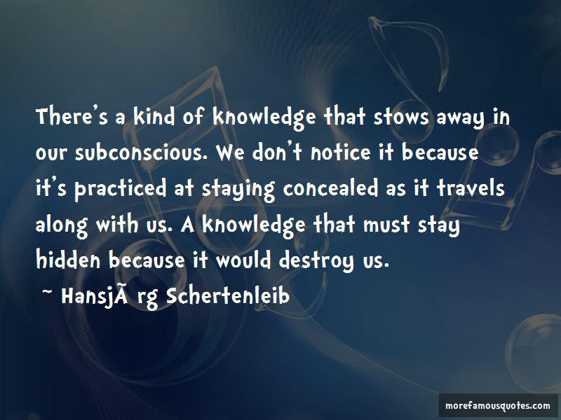 Hansjorg Schertenleib Quotes Pictures 4