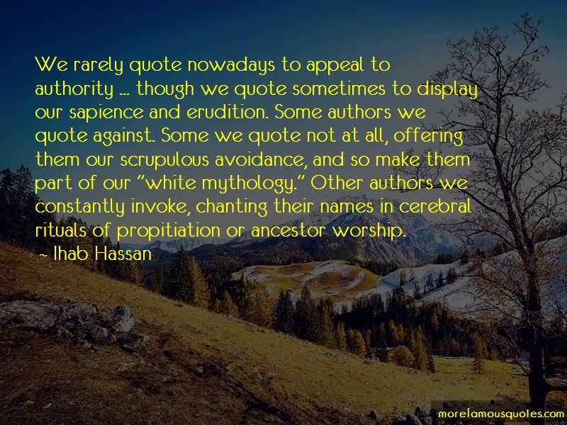 Ihab Hassan Quotes
