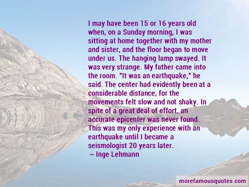 Inge Lehmann Quotes