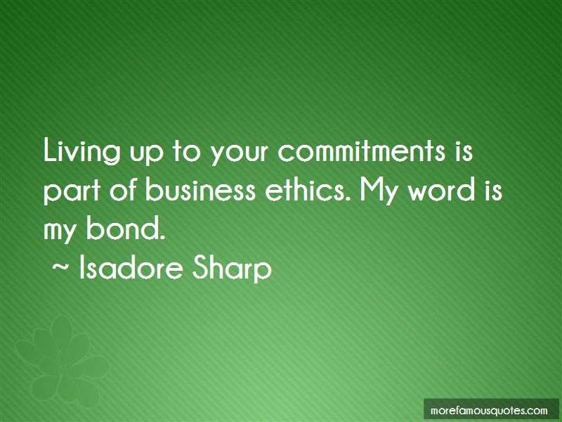 Isadore Sharp Quotes