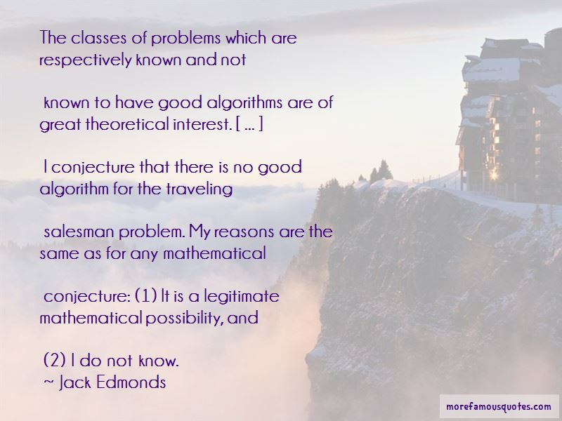 Jack Edmonds Quotes