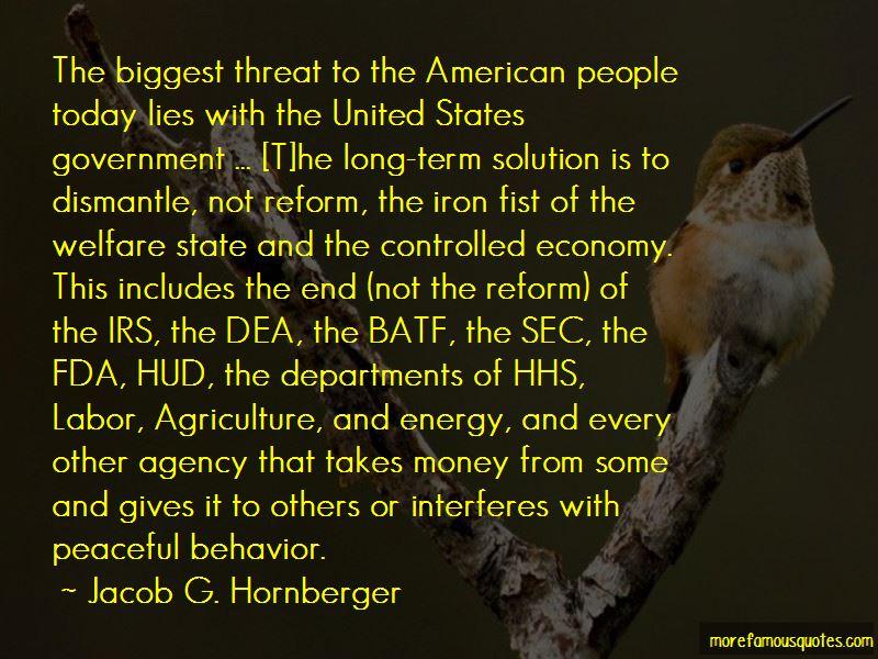 Jacob G. Hornberger Quotes
