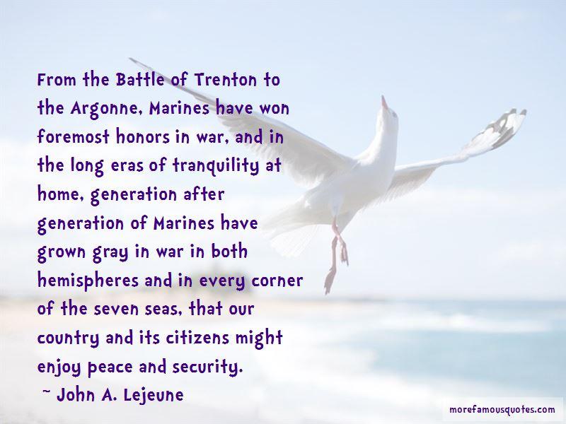 John A. Lejeune Quotes