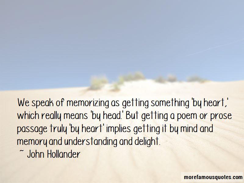 John Hollander Quotes