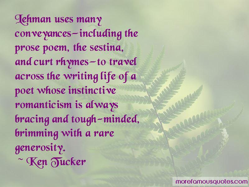 Ken Tucker Quotes