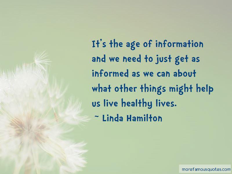 Linda Hamilton Quotes