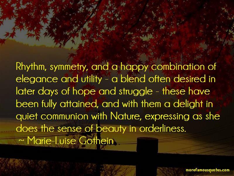 Marie-Luise Gothein Quotes