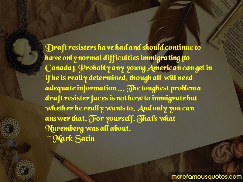 Mark Satin Quotes