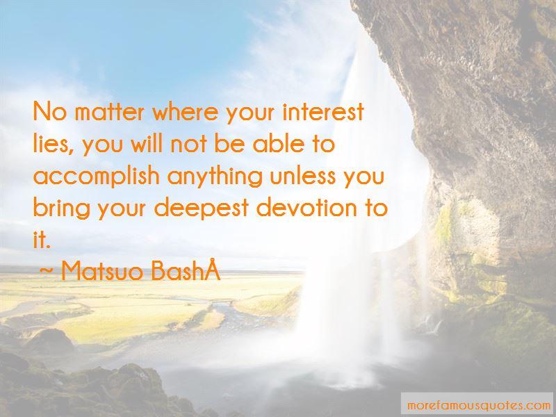 Matsuo Bashō Quotes