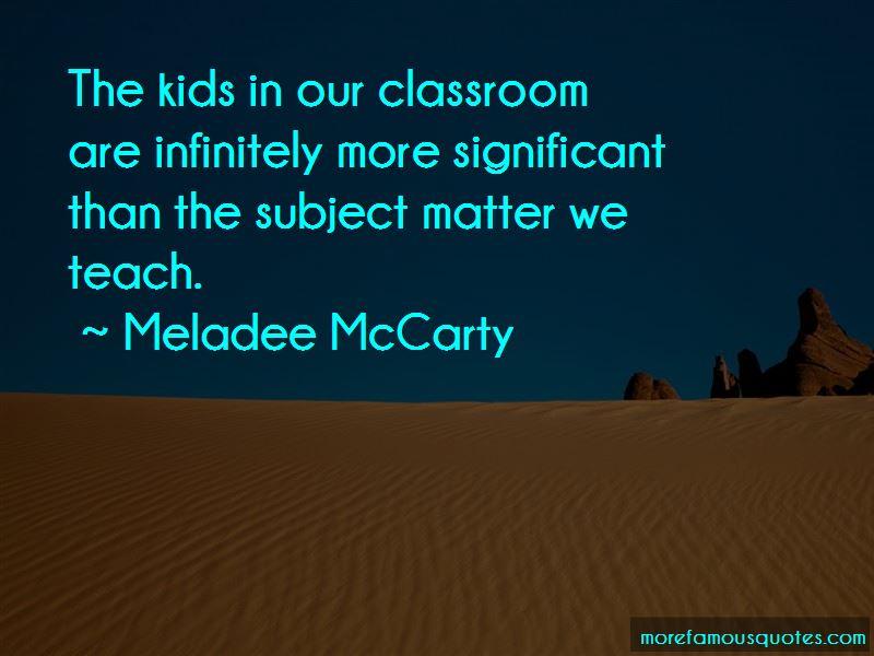 Meladee McCarty Quotes
