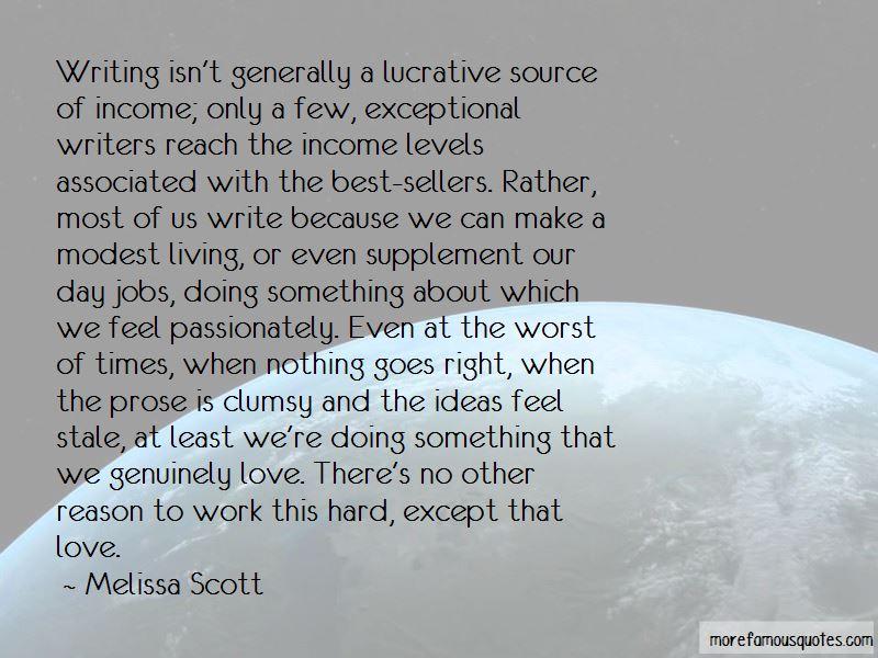 Melissa Scott Quotes
