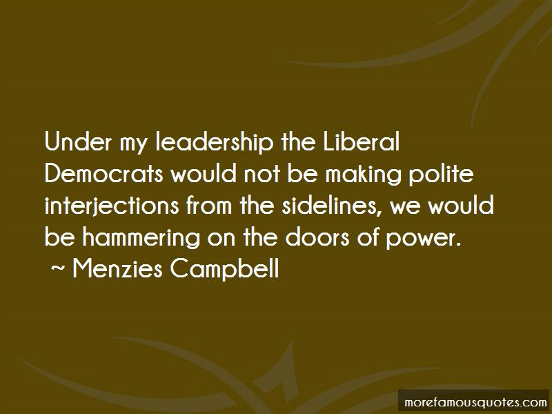 Menzies Campbell Quotes Pictures 2