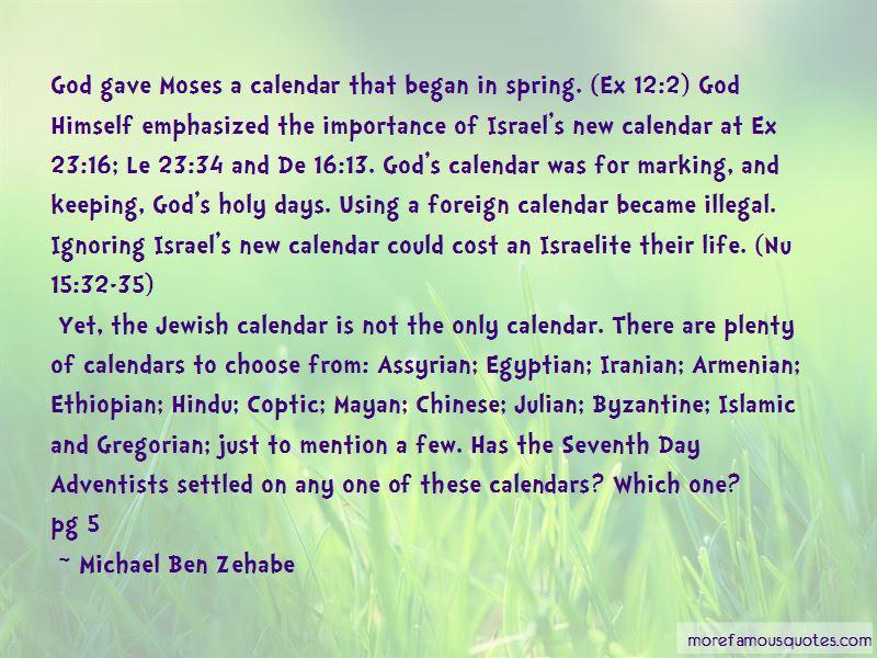 Michael Ben Zehabe Quotes