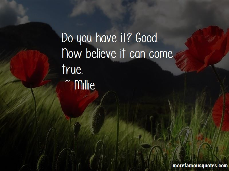Millie Quotes