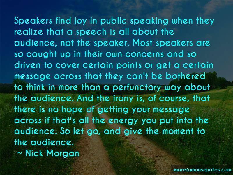 Nick Morgan Quotes