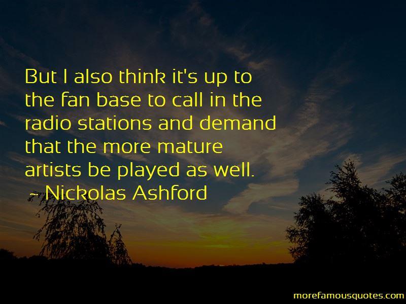 Nickolas Ashford Quotes