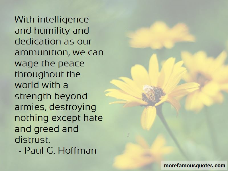 Paul G. Hoffman Quotes Pictures 2