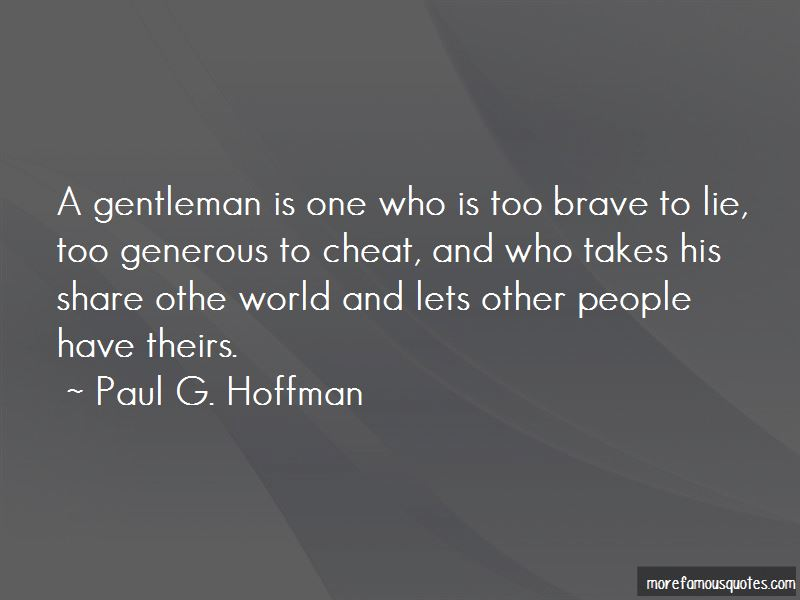 Paul G. Hoffman Quotes Pictures 4