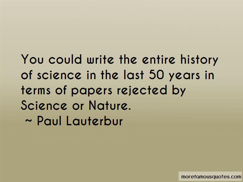 Paul Lauterbur Quotes