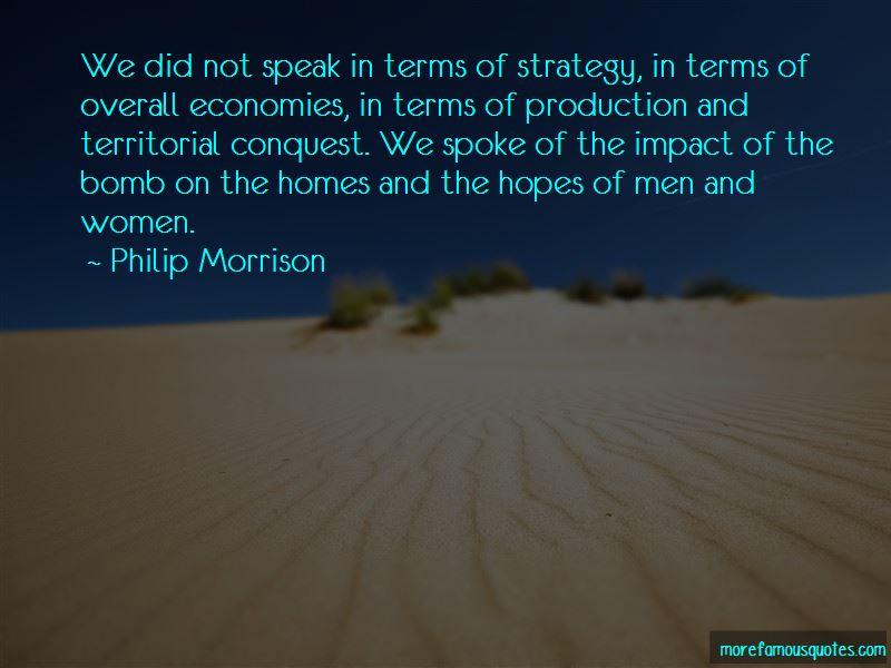 Philip Morrison Quotes