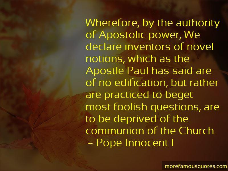 Pope Innocent I Quotes