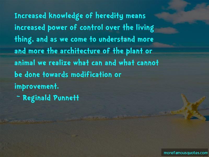 Reginald Punnett Quotes