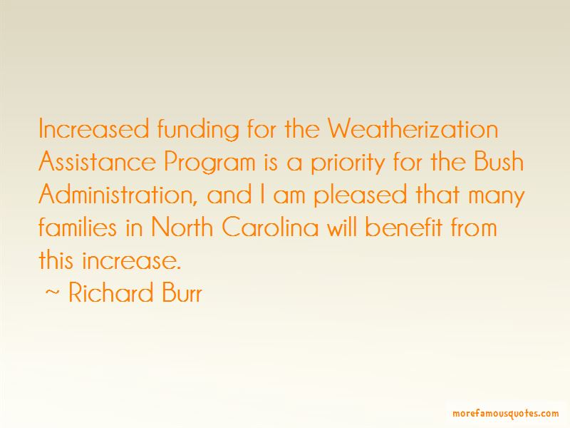 Richard Burr Quotes