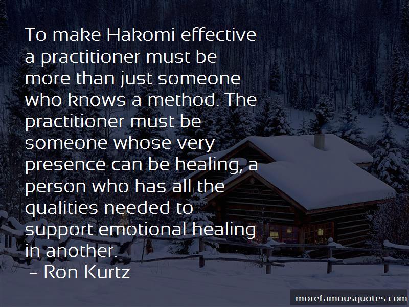 Ron Kurtz Quotes