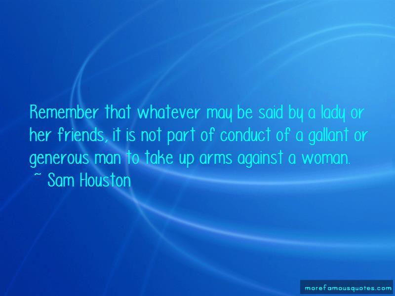 Sam Houston Quotes