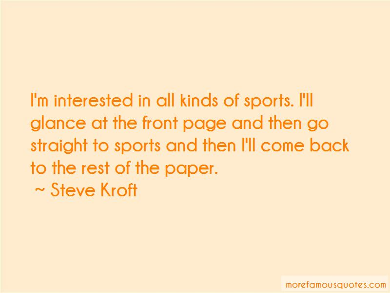 Steve Kroft Quotes