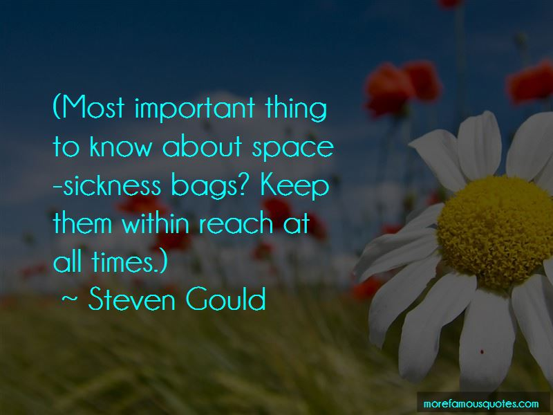 Steven Gould Quotes Pictures 2