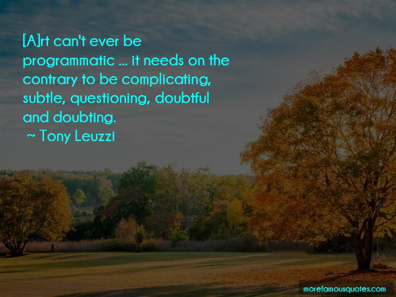 Tony Leuzzi Quotes Pictures 3