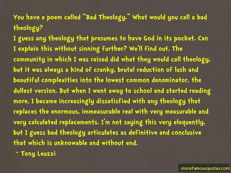 Tony Leuzzi Quotes Pictures 4