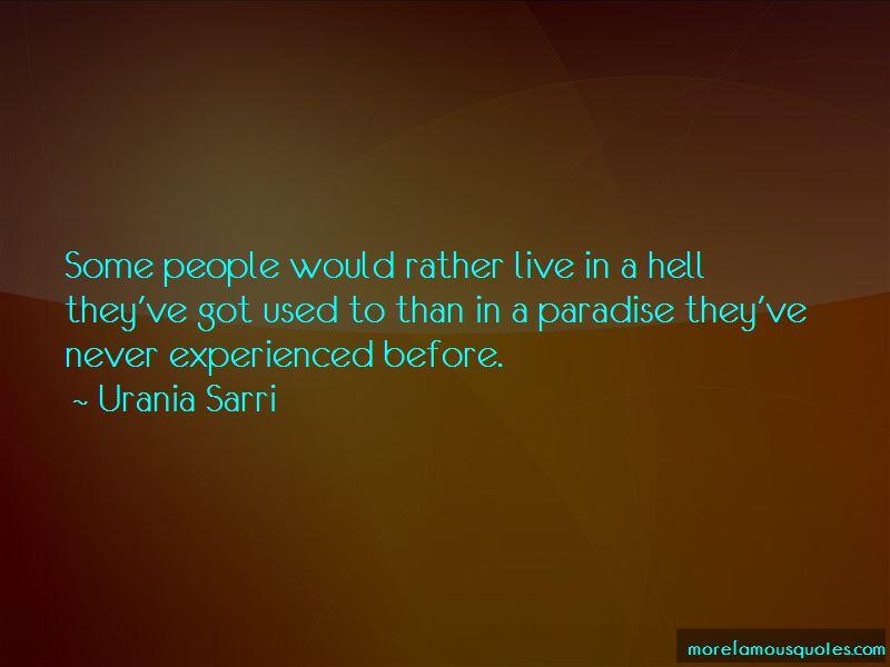 Urania Sarri Quotes