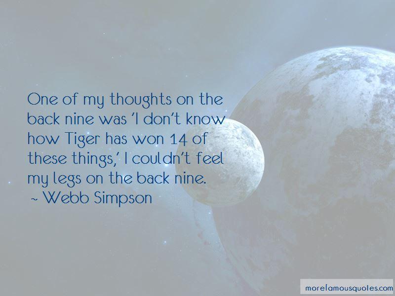 Webb Simpson Quotes