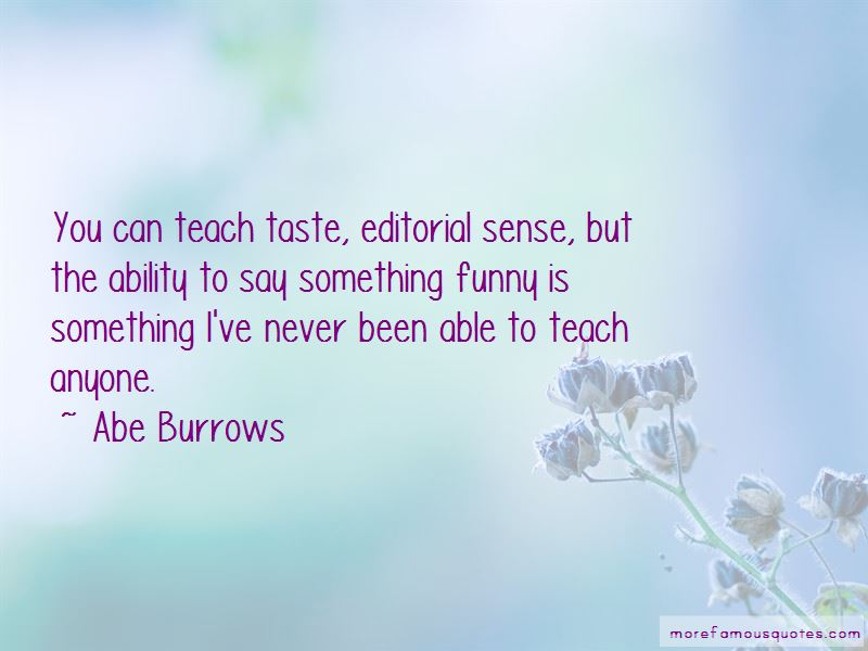 Abe Burrows Quotes Pictures 3