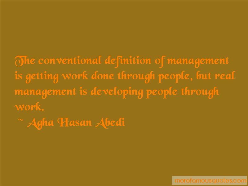 Agha Hasan Abedi Quotes