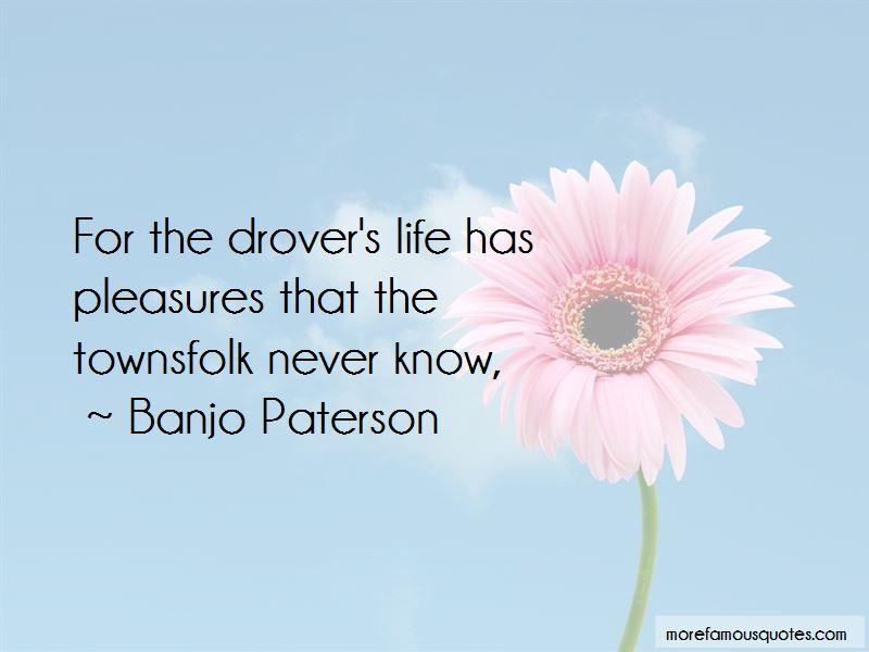 Banjo Paterson Quotes
