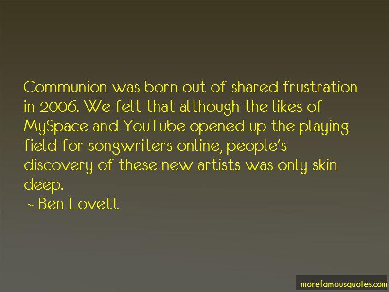 Ben Lovett Quotes Pictures 2